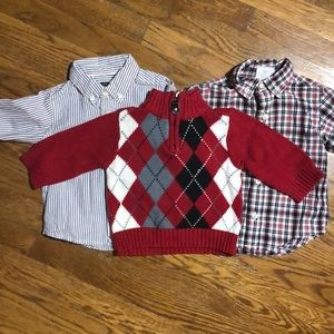 Children's Place Lot of 3 shirts & sweater-6-12M